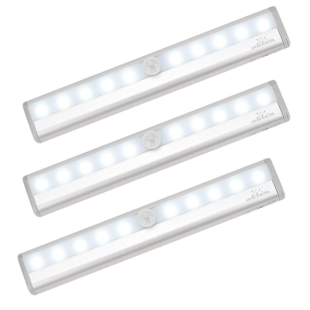 Leadleds Battery Operated Motion Sensor Light with Magnetic for Stairs Hallway Closet Lights - Leadleds