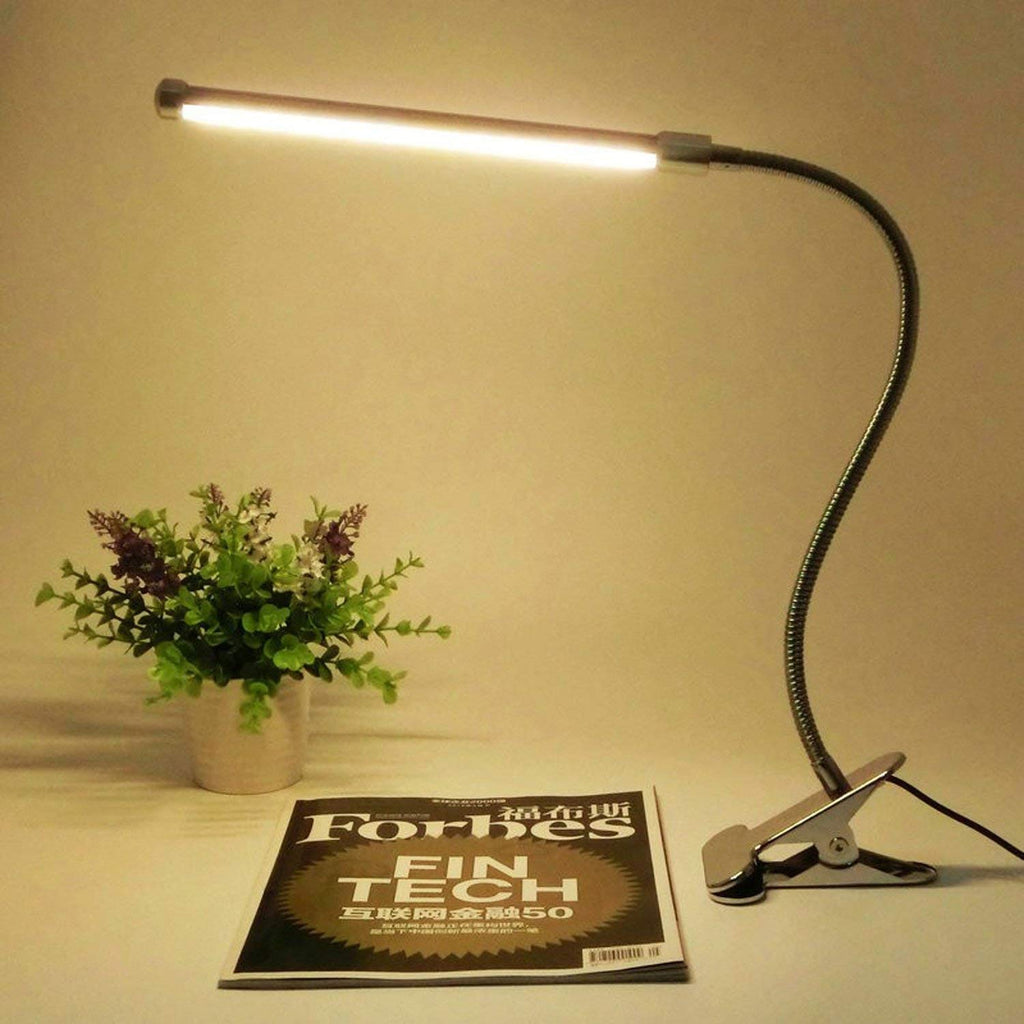 Leadleds LED Clip on Light Dimmable Reading Lights Flexible Gooesneck, USB Cord 2 Lighting Modes - Leadleds