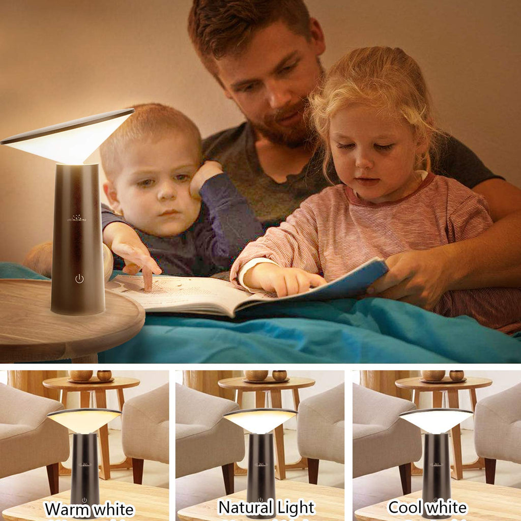 Leadleds LED Desk Lamp USB Charging Touch Sensitive Control Adjustable Brightness Reading Light - Leadleds