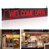 Leadleds 40 in Storefront Business Signs Scrolling Message Programmable by Phone, Red - Leadleds