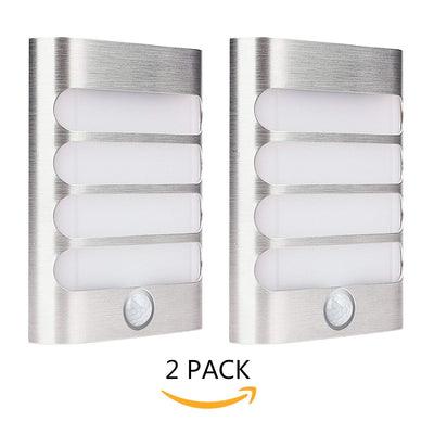 Leadleds Motion Night Light Battery Operated Auto ON OFF for Hallway Closet Staircase Garden, 2 Pack - Leadleds