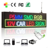 "Leadleds 26.4""x7.5"" Led Screen WiFi Program Display Text Time Temperature Images, Multicolored - Leadleds"