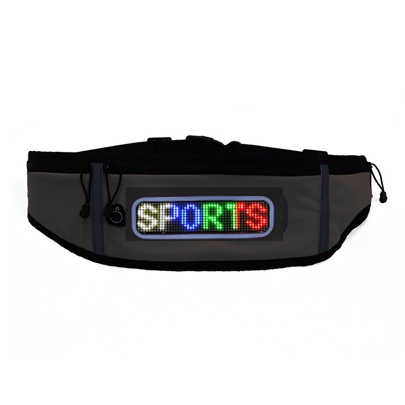 Fashion Multifunction USB Charging Gym Bags Waistline Bag Hips Bag With Scrolling Led Screen App Control Sports Lighting