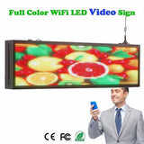 99cm P5 HD Full Color LED Video Sign Board by Phone & U Disk Fast Program, Support Android & iOS - Leadleds
