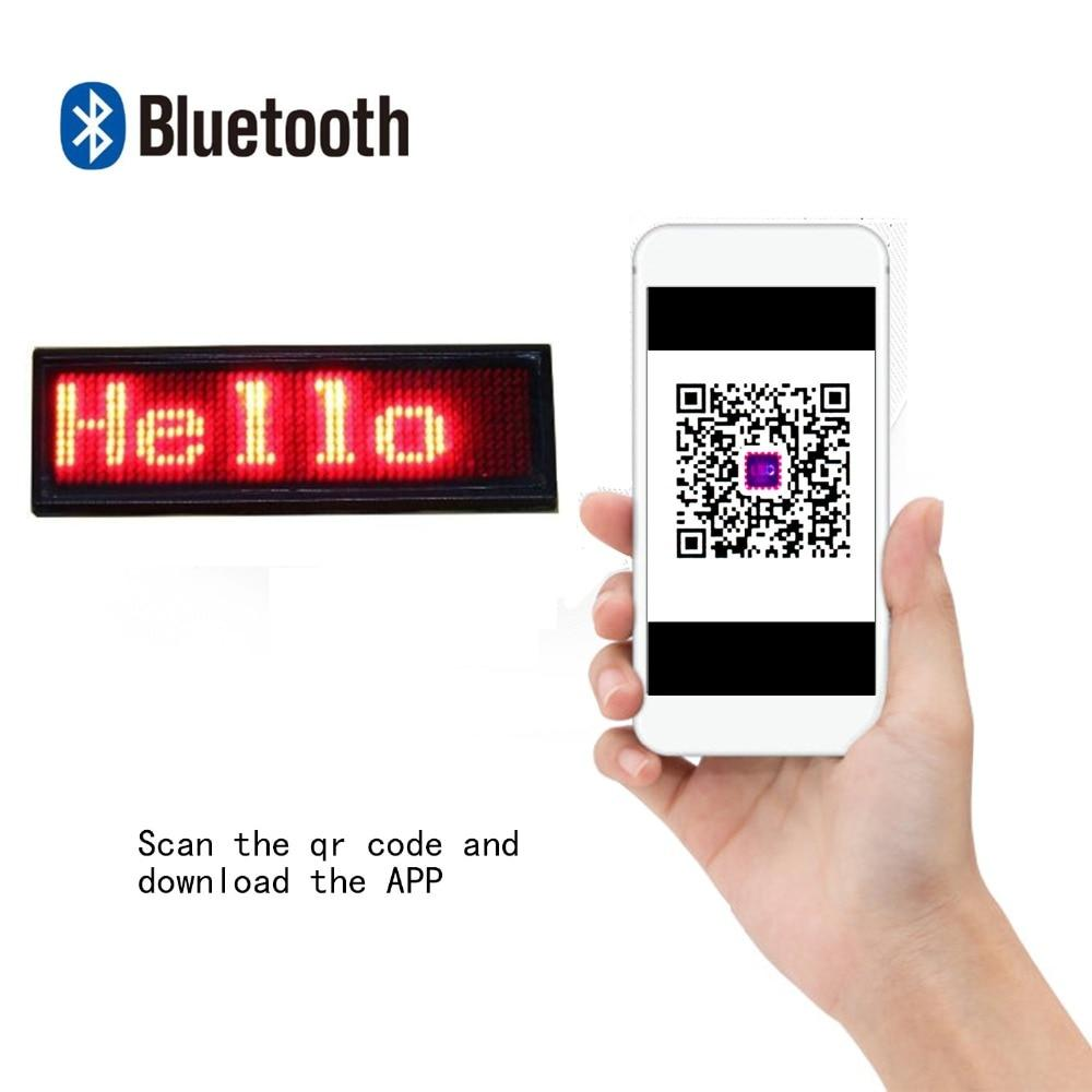 Leadleds Bluetooth Led Badge Name Tag Program Custom Message by Phone