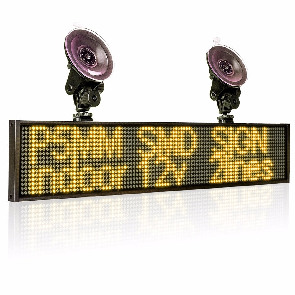 Car WiFi Illuminati Signs Storefront Open Sign Programmable Scrolling Display Board-Industrial Grade Business Tools - Leadleds
