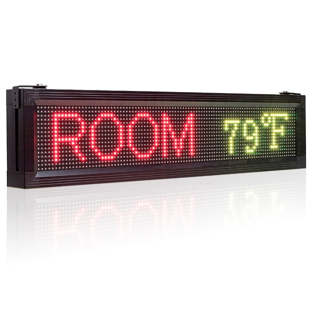 104*24cm Storefront LED Sign Waterproof Full COlor Led Display Board with Temperature Display, by Phone Control
