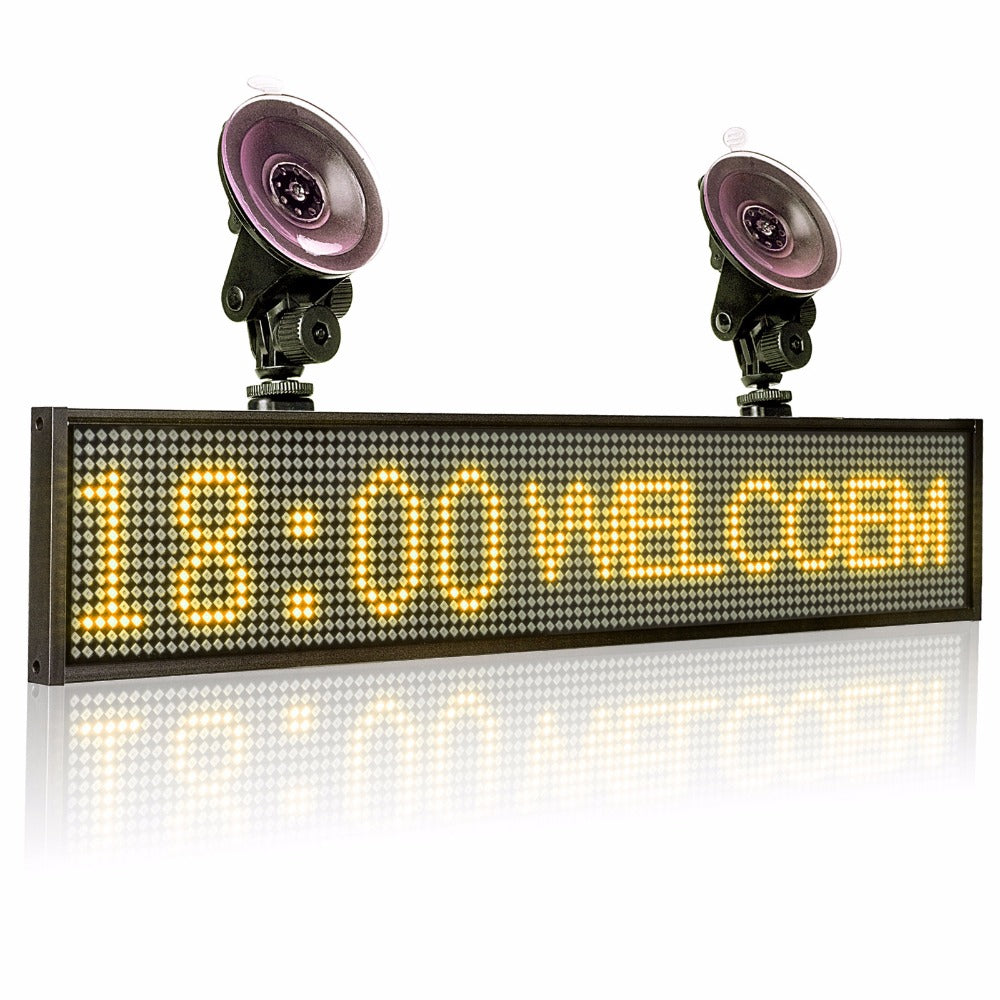 electronic message board for cars
