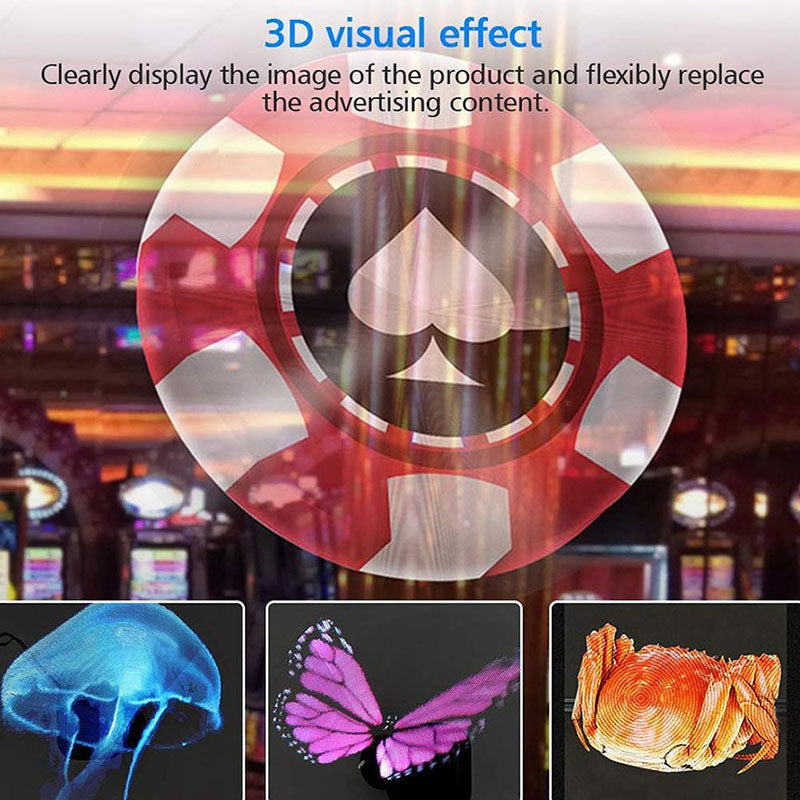 Leadleds 3D Hologram Advertising Display Fan WiFi Control 100CM 4 Axis, Safety Cover Including