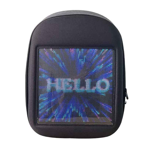 Smart Led Backpack Dynamic Backpack Shoulder Bag with Full Color Advertising for Boys Girls Gift, Black - Leadleds