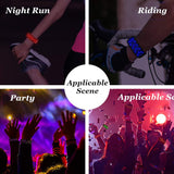 #LED Glowing Bracelet, #LED Slap Bracelet, Glow in The Dark Sports Event Wristbands, Light Up Glowing Slap Bracelet Night Safety Wristband Reflective Gear Light Up for Running, Cycling, Jogging