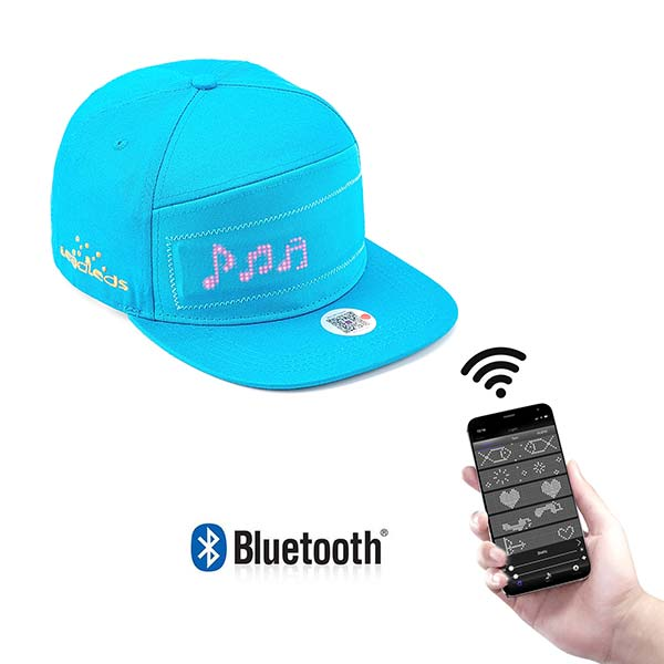 Leadleds Cool LED Display Hats by Phone Bluetooth Update Your Message, 12 x 48 dots