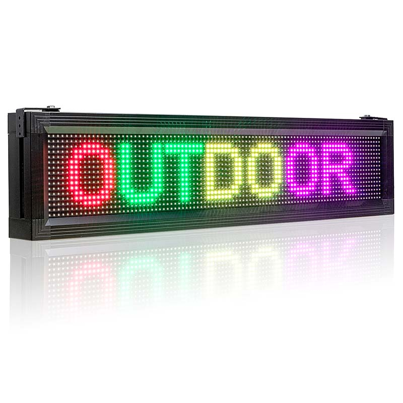 Leadleds 54in Outdoor Led Signs WiFi Led Display Programmable 7 Colors Message Sign for Business and Store