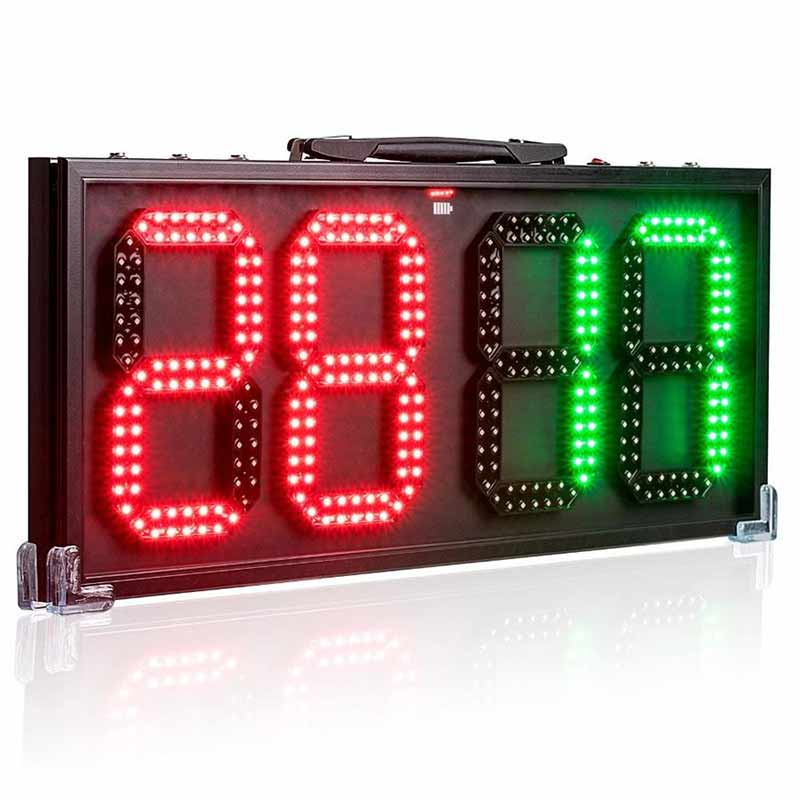 Leadleds 8-in LED Portable Football Electronic Soccer Change Player Display Board Referee Substitution Boards Equipment - Leadleds