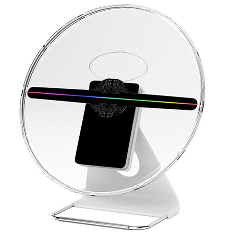 Leadleds 12 in Desktop 3D Hologram Fan Display Projector Battery Built-in, Safety Cover Including