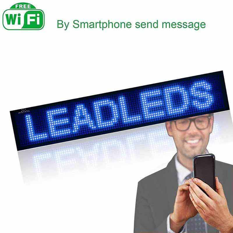 Leadleds P5 Wifi Scrolling Led Sign Message Board Working with Smartphone Tablet Android iOS - Leadleds