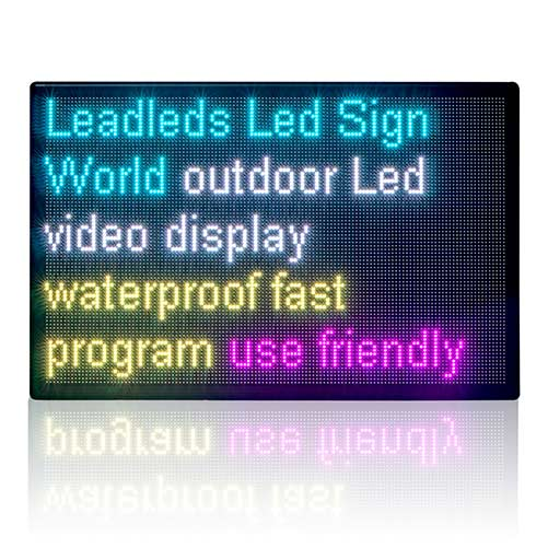 43x28in Outdoor Led Display Sign Board Waterproof Full Color Led Panel Super Bright Message by LAN Programming