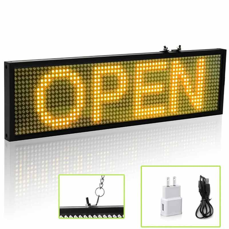 DC 12V Car LED Programmable Showcase Message Sign Scrolling Display Lighting Board by Phone Program - Leadleds