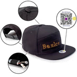 Leadleds Led Display Hat Cap Phone Control Message for Lighted Glow Club Party Sports Men Women, Golden Message