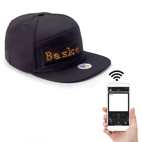Leadleds Person Wearable Led Hat Snapback Cap Rechargeable Flexible by Smart Phone Programmable