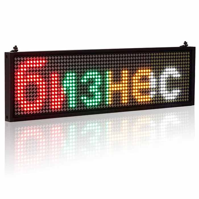 12V P5mm 64*16Pixels WiFi Auto LED Signs Panel Car Scrolling Message Display Board SMD Indoor Screen Batteries not include - Leadleds