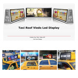 Leadleds 3G 4G WiFi GPS Control Led Taxi Roof Advertising Signs DC9V-36V, Double-sided