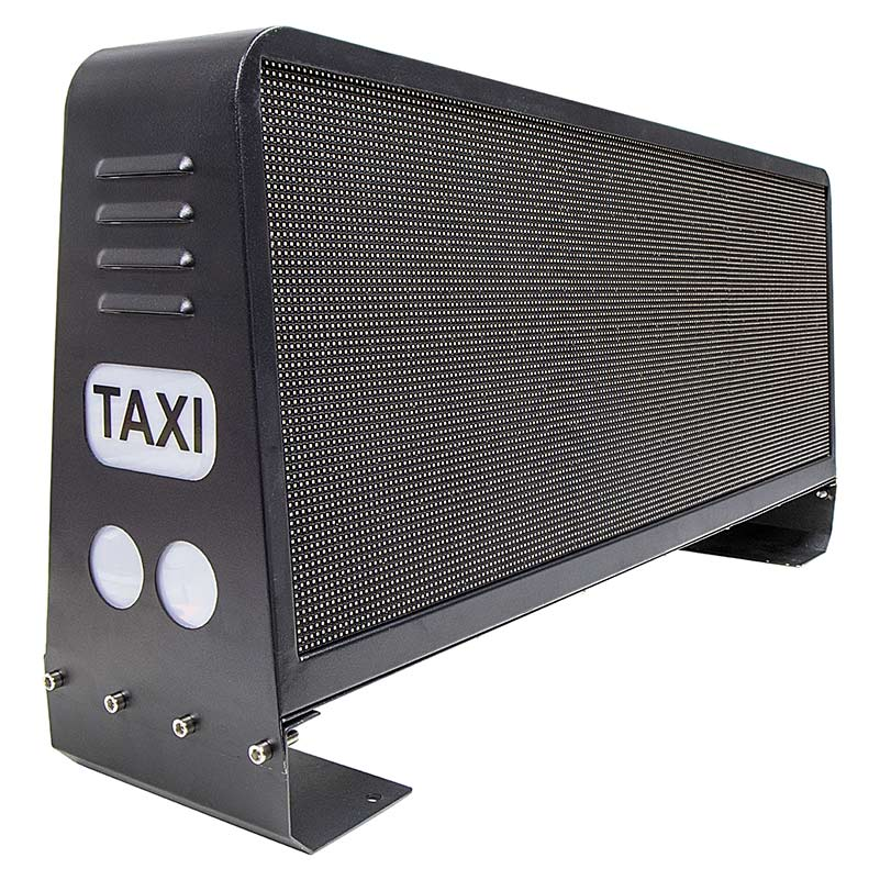 Leadleds Car Top Led Video Sign Waterproof Double Sided Wireless Taxi Roof Ads Led Sign, 96 x 32cm