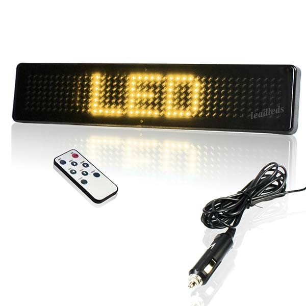 DC to AC Remote Led Sign Scrolling Yellow Message for Store Promotion Advertising Car for Sale Sign