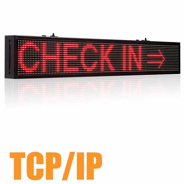 "Leadleds 30"" Custom Car Window Sign Scrolling Message by TCP/IP Fast Program, Red"