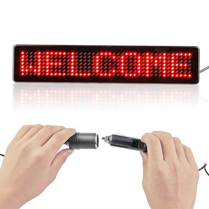 23cm 12V LED Car Signs Remote Programmable Scrolling Message display Board Uber Lift Diy kit