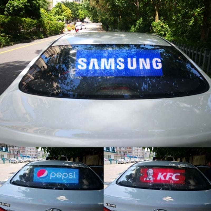Leadleds Rear Window Bus Car Taxi Led Display Screen for Advertising Display, 41 x 16in