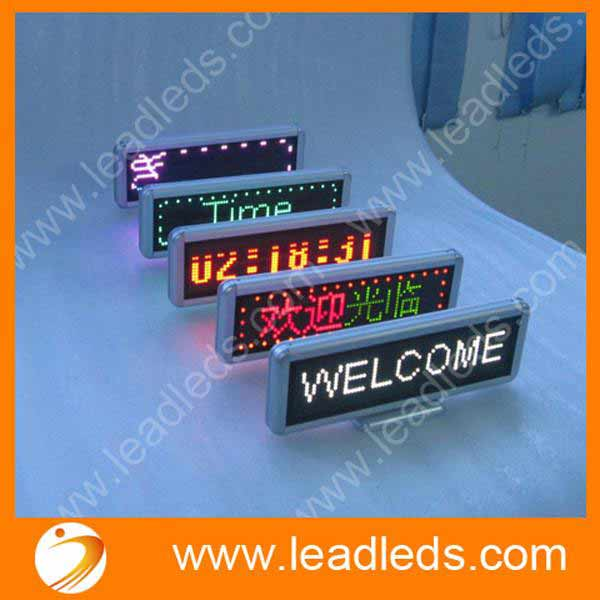 Built-in Battery Rechargeable Scrolling LED Car Sign 17 x 4.3inch/ Car LED Display Board LED Programmable Message Sign 12v Diy kit - Leadleds