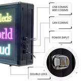Free Shipping Leadleds HD Full Color Outdoor Led Advertising Screen Double Sided, 104 x 56cm