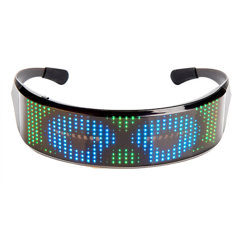 Leadleds Led Glasses Party Full Color Programmable Scrolling Message Cool Display for DJ EDM Club