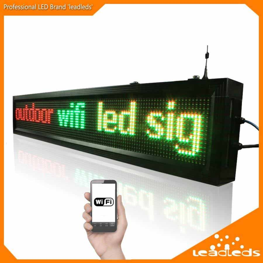 Leadleds 1 36M Outdoor Led Signs WiFi Led Display Programmable Message Sign  for Business and Store