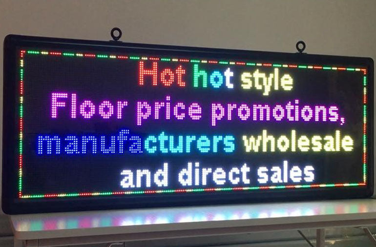Outdoor full-color P5 LED display size 15 x 40 inches advertising video screen / image signs / message board - Leadleds