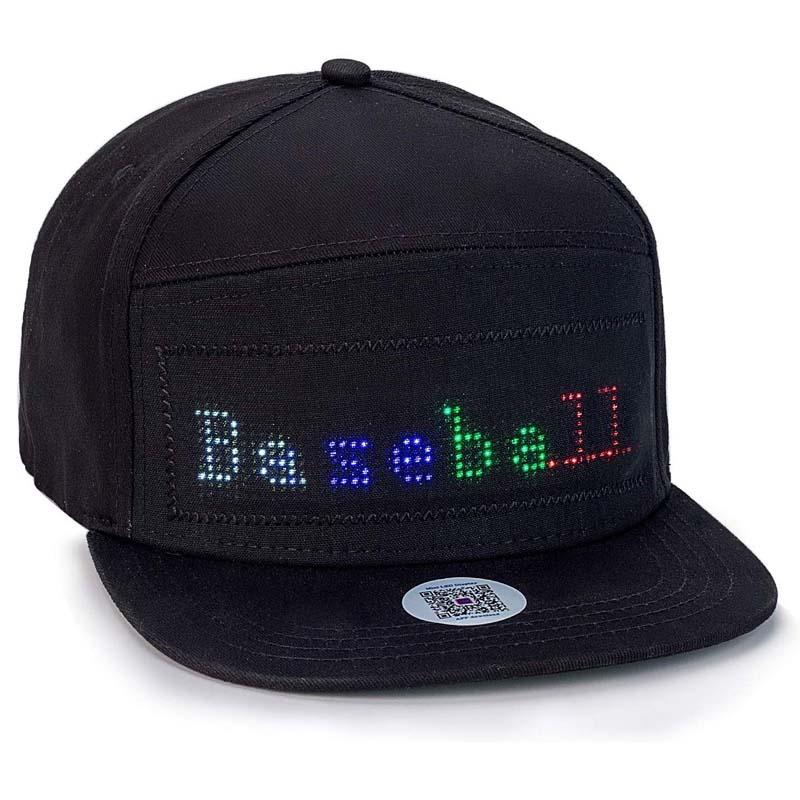 Bluetooth Fixed 4 color Led Hat Display Board hip hop street dance party parade sunscreen hiking night running fishing cap