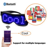 Customizable Bluetooth LED Glasses Display Messages, Animation, Drawings for Raves, Festivals, Fun, Parties, Sports, Costumes, EDM