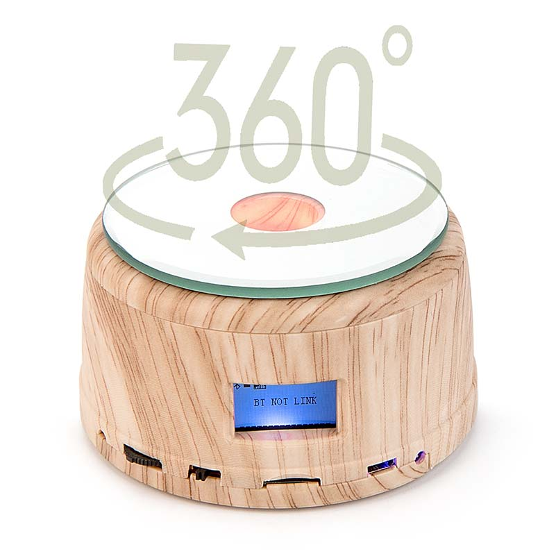 Colorful Romantic Crystal Music Box, Engrave You're my only love, Heart Couple, Bluetooth Rotating base