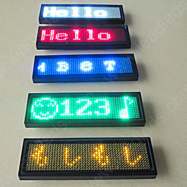 Leadleds Magnetic led badge with Programmable scrolling text message
