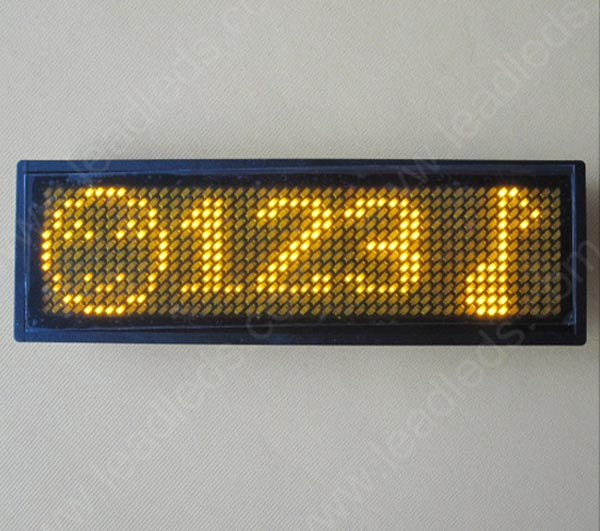 Magnetic led badge with Programmable scrolling text message (LLD180-B1248)