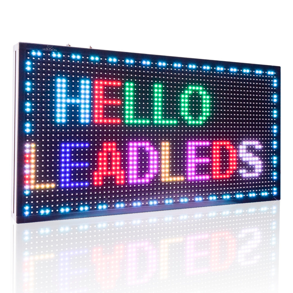 Leadleds Rainbow Color LED Display board by LAN fast Program, 71 x 39cm - Leadleds
