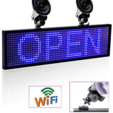 12V P5mm 64*16 Pixels SMD Wifi CAR Window Sucker LED Signage Programmable Scroll Display Panel for Taxi Uber Business - Leadleds