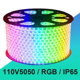 5M SMD5050 300 leds IP65 Waterproof LED strip light ribbon 220V flexible 60led/m tape warm white/blue/red/yellow/RGB outdoor led