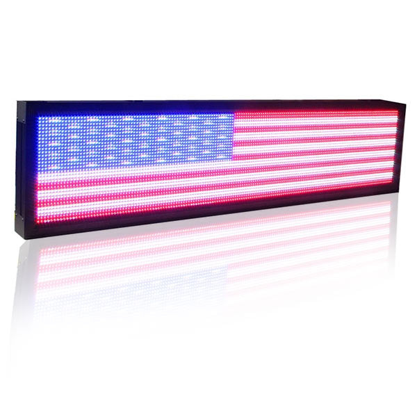 168 x 40cm P10 Outdoor waterproof Full Color Led Display Screen / LED video Display Sign Board use LAN programming - Leadleds