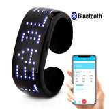 Leadleds Bluetooth Phone Program LED Bracelets Rechargeable Light Up Bracelet Custom Message