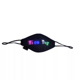 Leadleds LED Face Mask Scrolling Text Programmable for Men Women Rave Mask Music Party Halloween Light Up Mask