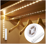 Leadleds Battery Powered LED Strip Lights Flexible Motion Sensor Closet Light for Cabinet/Cupord/ Stairs, 3000k Warm White - Leadleds