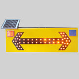 Leadleds 47in Solar Powered Road Arrow Sign Waterproof Warning Sign Light-dependent Control