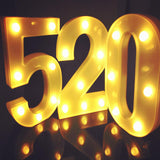 Leadleds 3D Neon Letters Night Light 26 Letter 0-9 Digital Marquee Sign Alphabet Light, 2 PCS